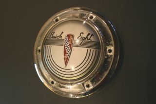 1941 Buick Horn Button steering wheel chrome emblem hub 1940s