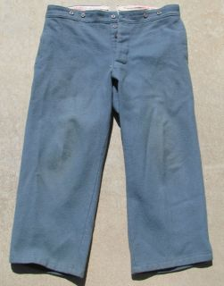 Used Repro Sky Blue Trousers w 40 L 27 American Civil War Wool Pants