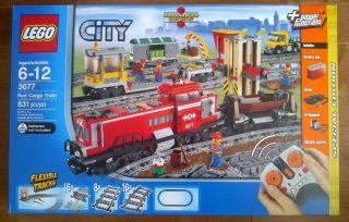 Lego 3677 City Red Cargo Train Brand New SEALED MSIB Mint