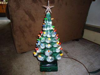 Vintage Ceramic 17 lighted Christmas Tree California Inc w BOX
