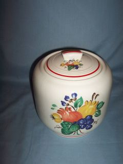 Knowles Sequoia Pattern Cookie Jar Utility Ware Line CA 1939