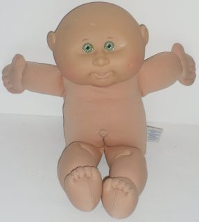 Cabbage Patch Kids Boy Doll Green Eyes Bald Pretend Play Baby Doll