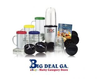 Magic Bullet Deluxe 25pc Blender Mixer with Recipe Book