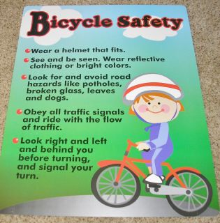 Teacher Resource Bicycle Safety Bulletin Board Chart