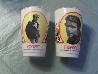 Vintage 1977 Burger King Fonz Cups Lot Happy Days