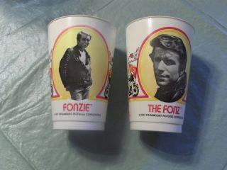 Vintage 1977 Burger King Fonz Cups Lot Happy Days