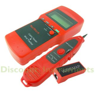 LCD Display Network LAN Cable Tester Wire Tracker Tracer Length