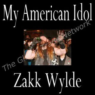 Zakk Wydle My American Idol  Huge Decal Black Label Society Ozzy