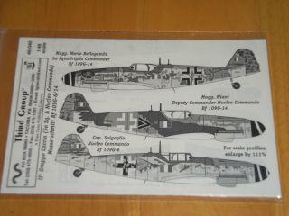 Group Decals 1 48 48 040 Messerschmitt Bf 109G 6 14 II Gruppo Caccia