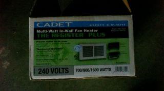 Cadet Wall Heater 240V 700 900 1600 Watts 63314 Model RMC162W