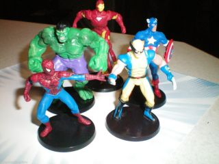 Figures Toys Cake Toppers Hulk Spiderman Ironman Capt America
