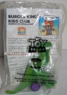 1995 Toy Story Squash N Go Rex Dinosaur Burger King