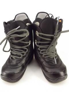 Kids boys snowboard boot black synthetic Burton Ion Grom 5 M winter