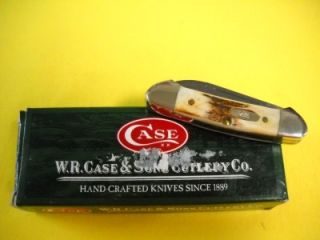 Case XX Genuine Stag Damascus Baby Butterbean # 6053. The beautiful