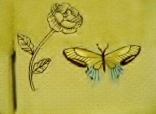 Set 2 Hand Towels Butterfly Bliss Bath Floral Green Garden New Free