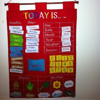 Wall Hanging Calendar for Kids Good for 2013 and 2014
