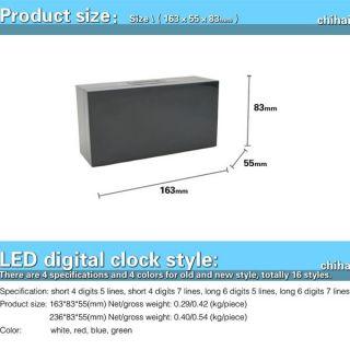 Big Jumbo LED Snooze Wall Desk Alarm Calendar Timer Watch Clock