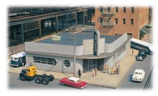 BUS STATION BUILDING KIT HO SCALE CITYSCENES BY BACHMANN FREE SHIPPING