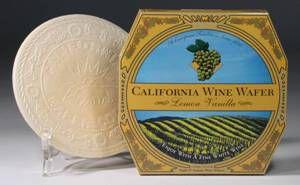 California Wine Wafer Lemon Vanilla Almond for dry Wine Wine tasting