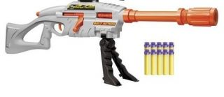 Nerf Style Buzz Bee Air Warriors Range Master Sniper Dart Blaster Gun