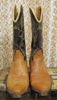 Calleen Cordero Womens Brown Embellished Unique Leather Cowboy Boots