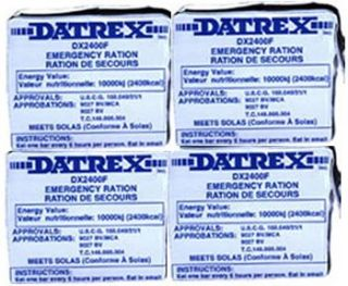 New Datrex Emergency Survival 2400 Calorie Food Ration Bar Pack of 4