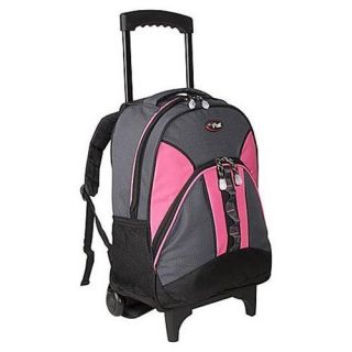 NEW CalPak Grand Stand Rolling Backpack Pink