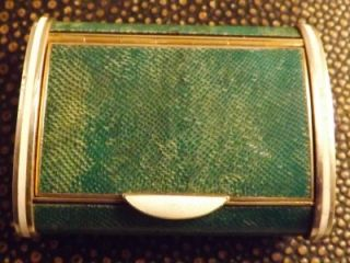 Solid Silver Gilt Enamel Vesta Case Form of Snuff Box Callow