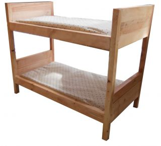 American Girl Custom Wood Doll Bunk Bed with Mattress