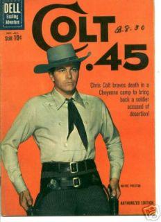 Colt 45 TV Comic Book 7 Photo Cover Wayde Preston F