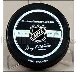 Cam Neely Autographed Boston Bruins Official Game Puck w HOF