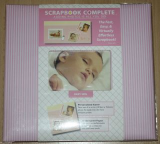 Tapestry by CR Gibson 12 x 12 Baby Girl Scrapbook Complete 16