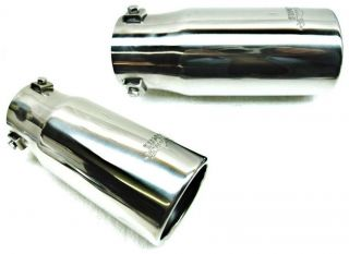 Big Bore Stainless Steel Exhaust Tip 3 1 2 Round Fits 1 1 2 to 2 3