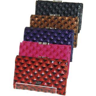 Buxton Genuine Leather Ladies Wallet Multicolor 901004