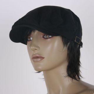 B1436 Newsboy Hat Cabbie Women Men Beret Cap Black Lady