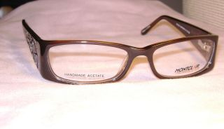 Beautiful MONTCLAIR EYEGLASSES FRAME M1223 51 15 135 DARK BROWN. SEMI