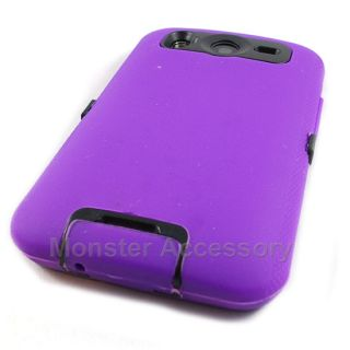 Purple Double Layered Hard Case Cover HTC Inspire 4G