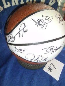 Signed 9x 1996 NCAA Champions University Kentucky Wildcats Basketball
