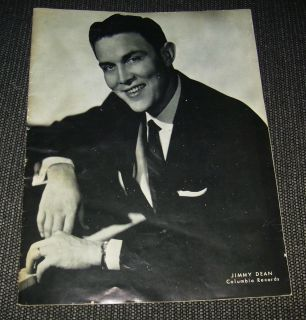 Legend Singers Souvenir Jimmy Dean,Red Foley,Patsy,Cline, Amoug Others