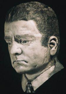 James Cagney Life Mask Gangster Mafia Prison Sculpture