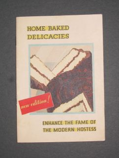 RARE 1931 Swans Down Cake Flour Recipe Booklet Cook Book