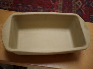 086 Stoneware Ceramic Loaf Bread Cake Baking Pan 9 USA Made
