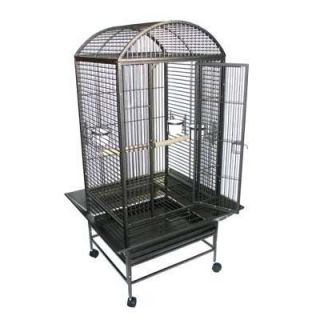 New Large Bird Cage Parrot Cages Macaw Dome Top 0657 Black Vein