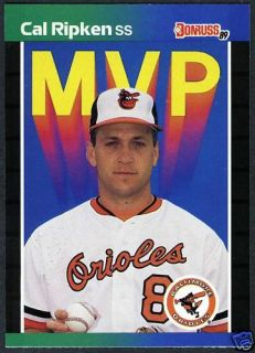 Cal Ripken Jr MVP 1989 Donruss Baseball Mint Card BC 15