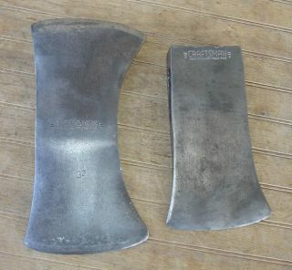 CRAFTSMAN AXE HEADS DOUBLE BIT & SINGLE BIT HUNTERS CAMP WOOD TOOL USA