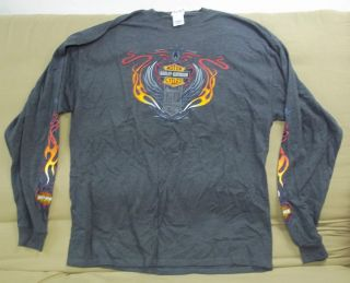 2010 Big Island HARLEY DAVIDSON KONA Hawaii Gray Long Sleeve Shirt