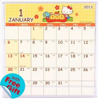2013 Hello Kitty Mini Desk Calendar 9 8 x 9 9cm 3 85 x 3 9 Sanrio