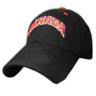 CCM 4680 Flex Fit Canada Hockey Hat Black One Size FA