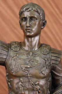 Signed Dalov Julius Caesar Bronze Sculpture Statue Art Deco Marble
