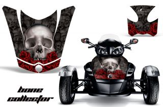 AMR Racing Graphic Decal BRP Canam Spyder RS Hood Rear Fender Bones